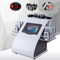 2018 New Arrival !!! 6 In 1 40K Ultrasonic Cavitation Vacuum Radio Frequency Laser 8 Pads lipo Laser Slimming Machine for