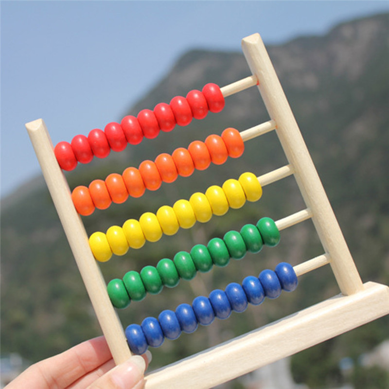 New Hot Sale Mini Wooden Children Early Math Learning Toy Numbers Counting Calculating Beads Abacus Montessori Educational Toy