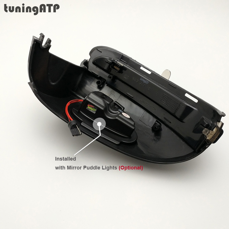 tuningATP Smoked LED Wing Mirror Indicator Sequential Dynamic Turn Signal  Lamps For Volkswagen Golf Mk6 Golf 6 VI R20 Touran 1T3