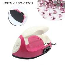2014 Rhinestone Trim Dress Pink+white 1pcs/lot Hot Fix Applicator Diy Rhinestones Iron Use Hotfix On Crystals free Box Cpam