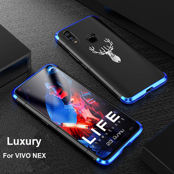 Showkoo Newest Smartphone Case For Vivo NEX 6.59 Cover 3 in 1 Metal aluminum + PC back 360 full Protect Shockproof For VIVO NEX smartphone