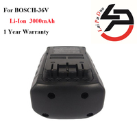 Hot! High quailty 36v 3.0Ah Li-Ion Replacement power tool battery for Bosch: 2607336004,BAT836,11536VSR,2607336108, BAT838,1671B