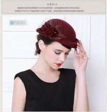 Della signora Cappelli stile Fedora e borsalino Cappello di Lana di Inverno  Caldo Cappello Di Lana Versione Femminile Berretto D.. 794077f3f7e2