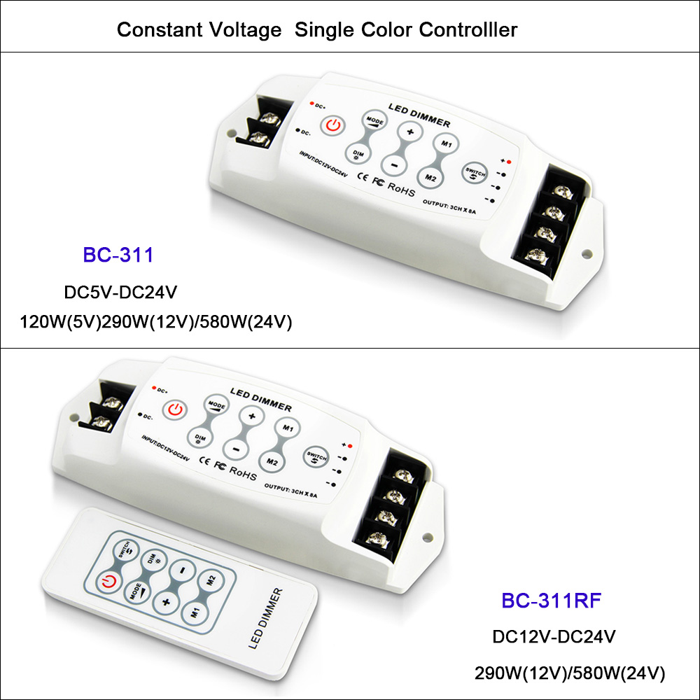 24g Rf T3 Cv Wireless Receiving Rgb Controller Dc5 24v Input 6a Pwm Dc 12v 8a Remote Dimmer Is A That Can New Dc5v Led Single Color 3 Channel Output 8a3ch