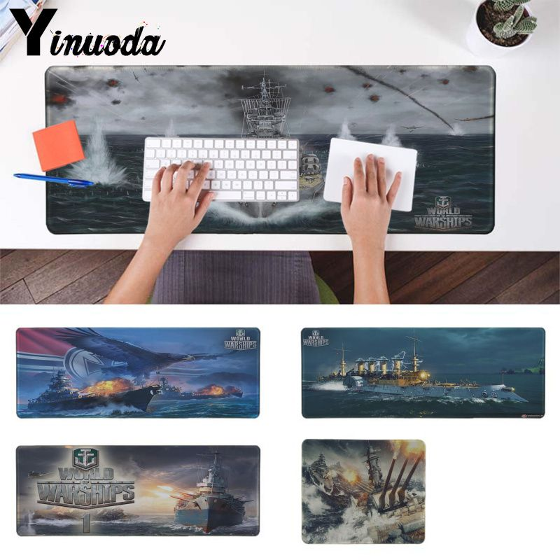 Yinuoda  World Of Warships Office Mice Gamer Soft Mouse Pad Extended Gaming Mouse Pad Large Mousepads For Dota2 Lol Csgo Gamer