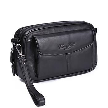 High Quality Genuine Natural Leather Hand Bag Men Casual Long Wallet Purse 6.4 Inch Mobile Cell Phone Male Handy Clutch Bags New
