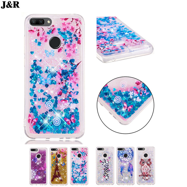 outlet store 2fd7e 0fc7c US $4.8 |J&R For Huawei Honor 9N Case Bling Glitter Dynamic Liquid  Quicksand Silicone Soft TPU Case For Huawei Honor 9i 2018 Back Cover-in  Fitted ...