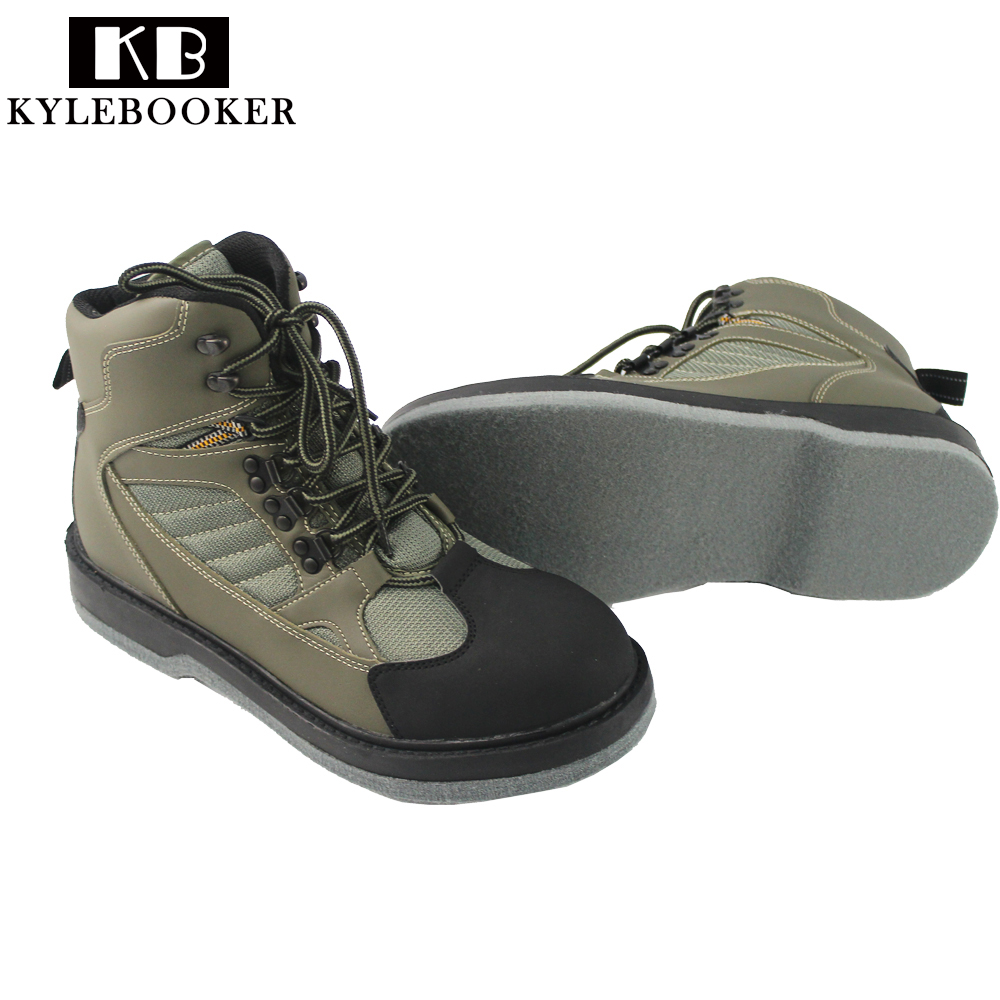 Men 39 s fishing hunting wading shoes breathable waterproof for Waterproof fishing boots