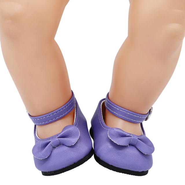 8158f80faa47b US $3.49 30% OFF|Doll Accessories Doll Shoes Purple Blue Casual Leather  Shoes Fit 43cm new Baby Doll X 211-in Dolls Accessories from Toys & Hobbies  on ...