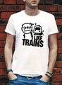 Eu gosto de trem trens ASDFMOVIE ASDF camiseta filme música logotipo engraçado impressão rocha YouTube TEE TOP vídeo T - camisa