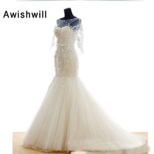 Awishwill Mermaid Wedding Dresses Bride Dress