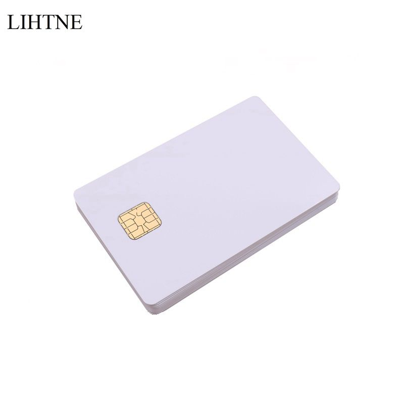 10PCS/lot SLE 4428 Chip Smart Contact IC Cards Blank PVC IC Cards цены