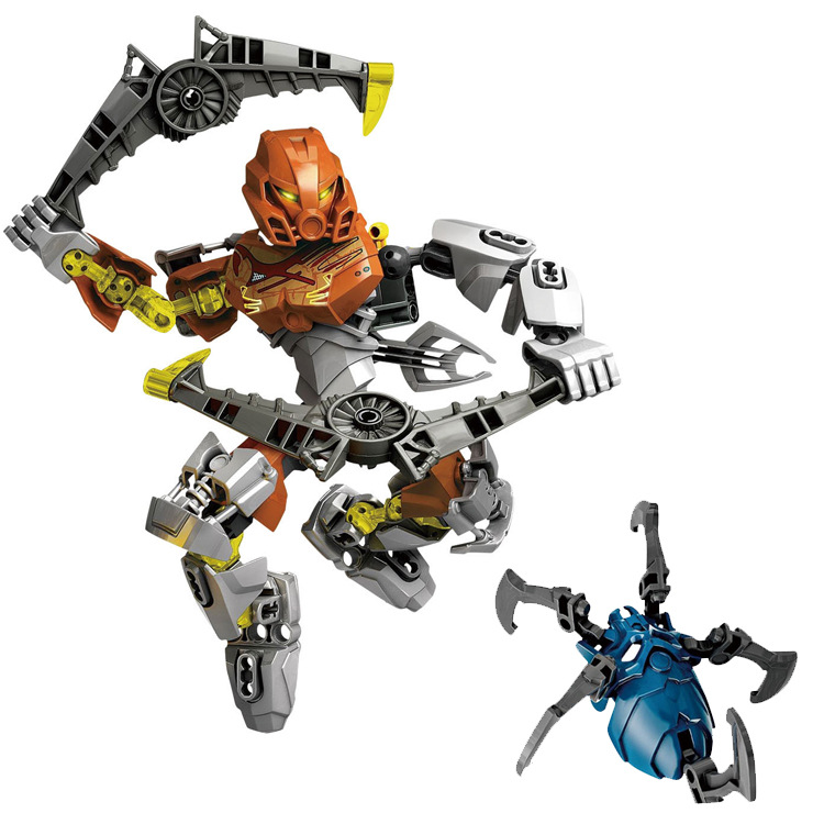 Bionicle Pohatu Master of Stone XSZ 707-2 Building Blocks Action Figure Compatible with 70785 Toy цена