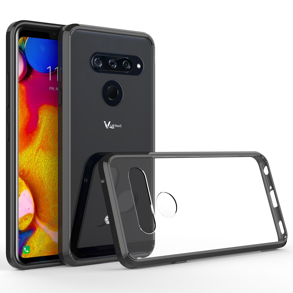 Hybrid TPU Hard Clear Case For LG V40 Case Soft Bumper Armor Shockproof Silicone Cover Case For LG V40 ThinQ / LG V30 Case