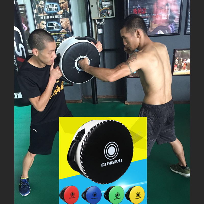 Good Heavy Boxing Target Durable Punching Pads MMA Kicking Big Round Targets Muay Thai Martial Arts Shield Focus Curved Pad 1