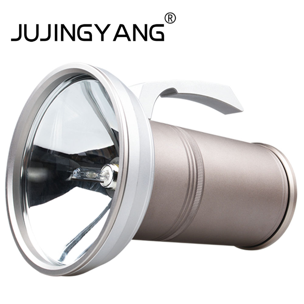 JUJINGYANG HID Xenon fishing lamp glare searchlight super bright long-range night fishing lights can be connected to the bracket handheld car searchlight strong light long range flashlight outdoor camping night fishing hid xenon flashlight