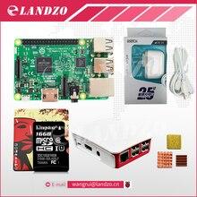 Raspberry Pi 3 Starter Kit-pi 3 доска/Оригинальный Официальный случай/Американский стандарт питания/16 Г карты памяти/логотип радиатора