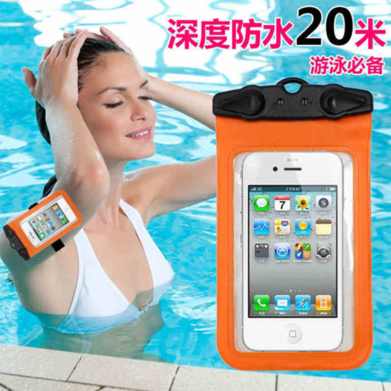 Universal Waterproof Mobile Phone Bag with Strap Dry Pouch Case Cover For Sony Ericsson X12 LT15i Xperia Arc S LT18i Phone Pouch