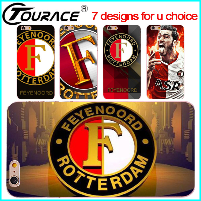 feyenoord phone bag cover case for iphone5s se transparent coque hard phone cover case for iphone6s plus case Accessorie fundas