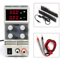 DC Power Supply Variable, KPS305D Adjustable Switching Power Supply Digital with 24Bit Terminal Head Connector+Tip Tester Probe