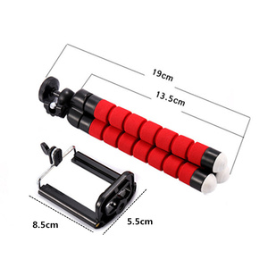 Image 4 - Support de trépied de téléphone Flexible éponge trépied poulpe support de montage Bluetooth obturateur à distance Selfie bâton retardateur support de trépied