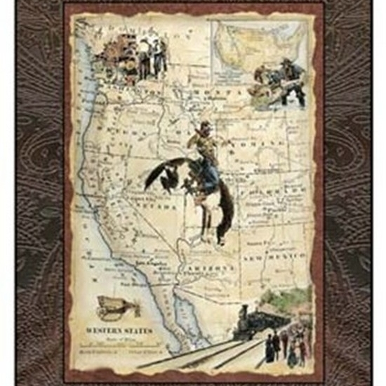 Western States Map Poster Print by Vision studio (13 x 19)