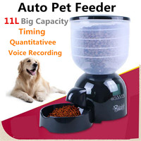11L Pet bowl with Voice Message Recording Automatic Feeder Pet food bowl Auto Program Digital Display Pet Cat Dog Feeder Large