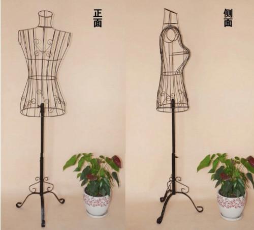 Nouveau fil Mannequin robe forme Mannequin Boutique vêtements décor métal magasin affichage