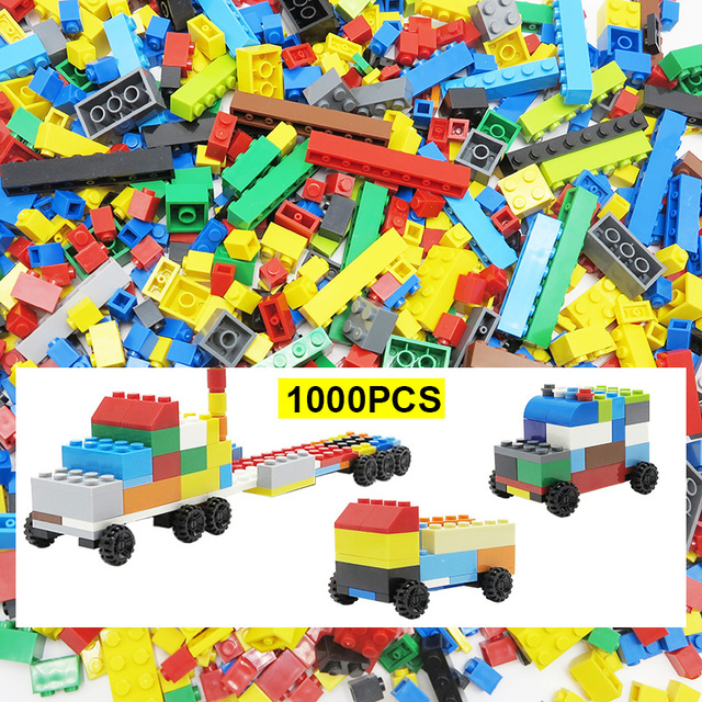 1000 pieces Building Block DIY Designer Creative Classic Bricks Educational Toys For Kids Compatible With LLegoings Multicolor