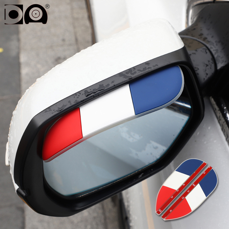 Rearview mirror rain shield sticker National flag cartoon design classic style fit for Lada BYD Renault Opel Citroen Suzuki Fiat in Car Stickers from Automobiles Motorcycles