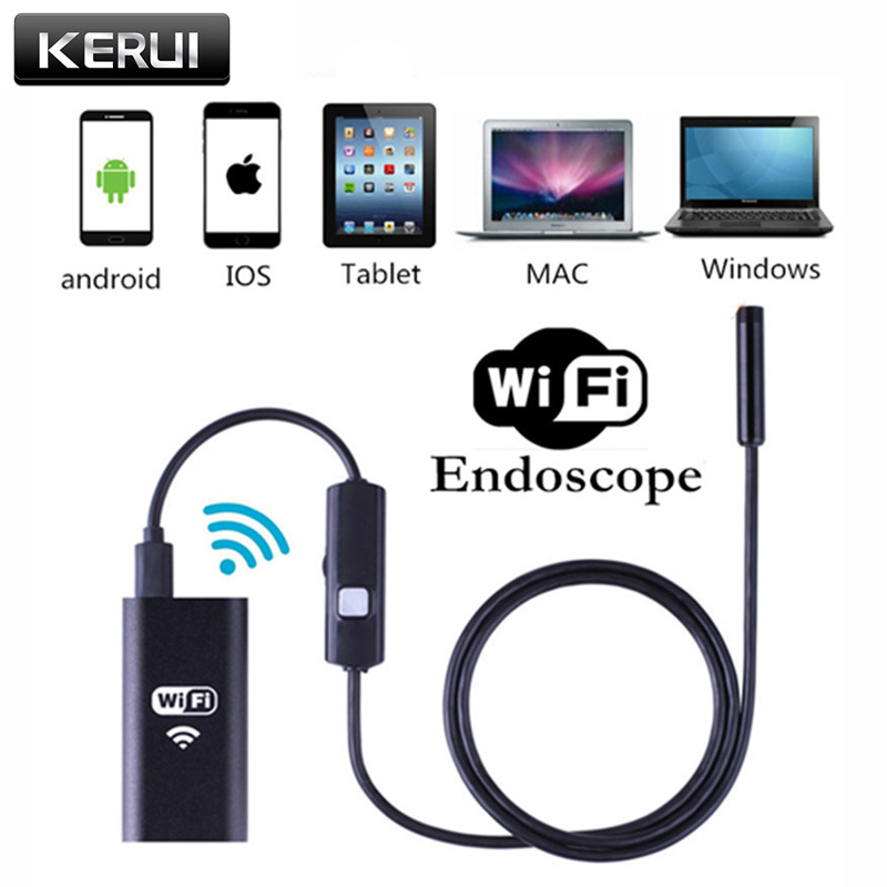 8mm Lens Waterproof Wireless PC Android IOS WIFI USB Endoscope Camera 6 LED Borescope Inspection Camera 2M Cable 8mm 1m 2m 3 5m wifi ios endoscope camera borescope ip67 waterproof inspection for iphone endoscope android pc hd ip camera