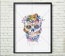 New 100% Needlwork Diamond Embroidery 5D DIY Painting Watercolor skeleton Cross Stitch Crystal Full Decorative