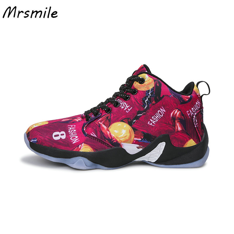 Nagy méretű csúszásgátló férfi kosárlabda cipő Lace-up sportcipők A ... b08f4bd9d0