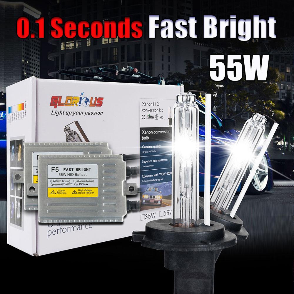ФОТО H7 xenon kit Fast Bright F5 55w  HID kit H1 H3 H11 9005 HB3 9006 HB4 D2S H27 881 4300k 5000k 6000k 8000k