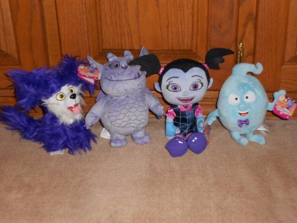 Disney Jr Vampirina Set of 4 Stuffed Plush Doll Toy Bean Demi Gregoria Wolfie