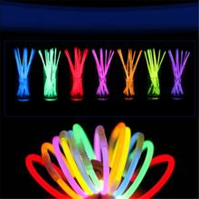 100 pcs 8″ Glow Light Sticks Bright and Colorful Bracelet Necklace Light Multi Colorful Neon Party or Event