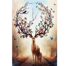 Diamond Painting Diy 5D Embroidery Cross Stitch Dream Elk Full Rhinestones Mosaic Animal Pcitures Custom Photo