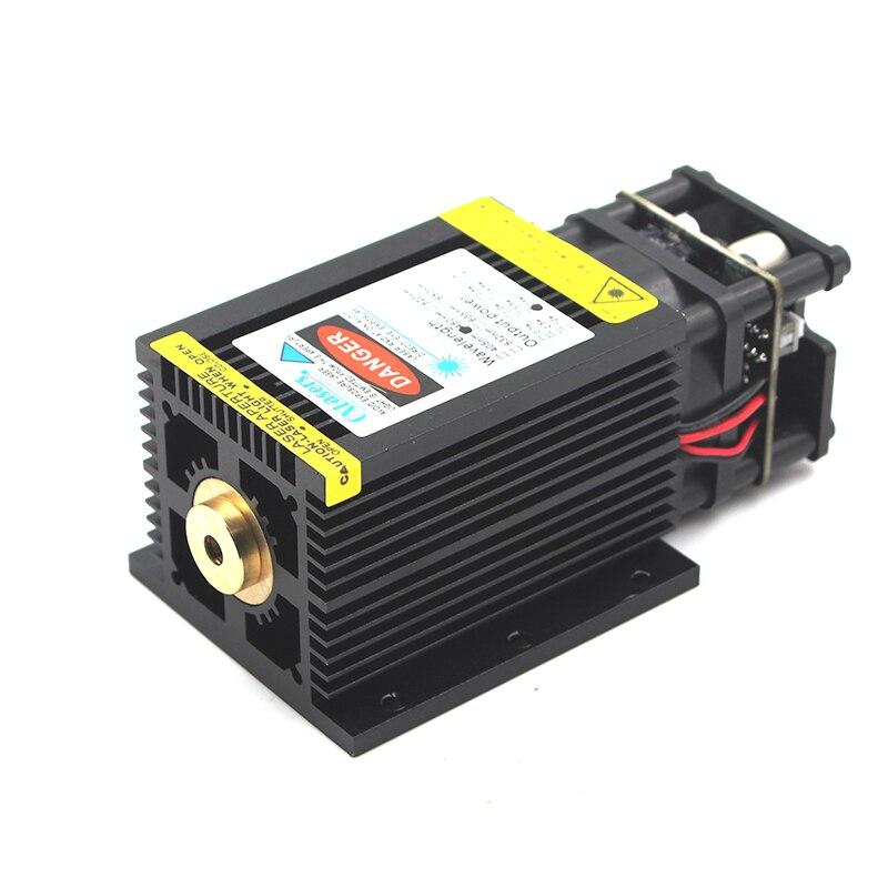 Oxlasers 12 v 450nm 15 w 15000 mw cabeça grande foco fixo módulo laser azul para diy gravador a laser cnc peças de cortador a laser com pwm