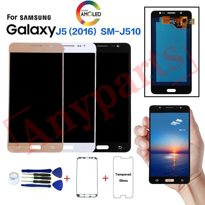 AMOLED pour Samsung J5 2016 SM-J510F J510FN affichage écran lcd remplacement pour Samsung SM-J510H J510MN J510S J510L écran d'affichage