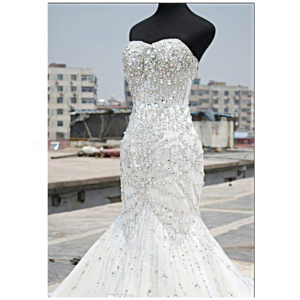 Aliexpress.com : Buy Luxury Bling Bling Wedding Dresses Mermaid ...