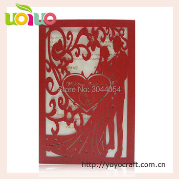 2017 best sell wedding invitation card  romantic bride and groom creative nepali marriage invitation card sample