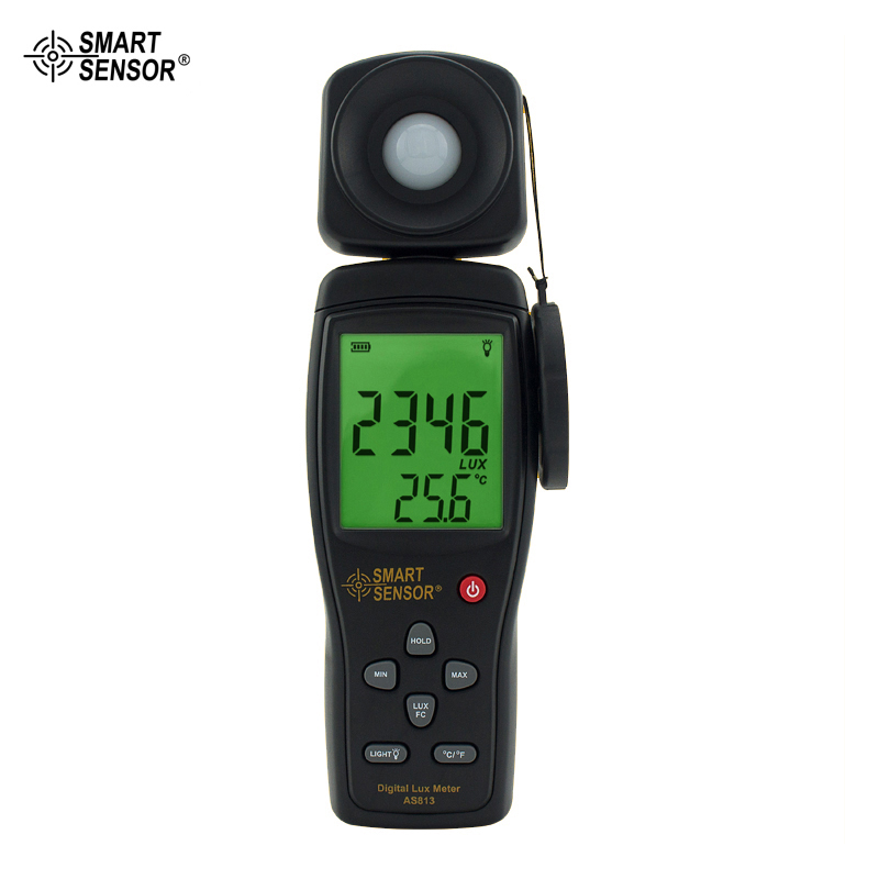 Lux Meter Digital Light Meter Lumen Meter Photometer 1~100.000lux Smart Sensor AS813
