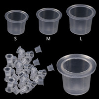 1000Pcs Bag Plastic Microblading Tattoo Ink Cap Cup Pigment Clear Holder Container S M L Size