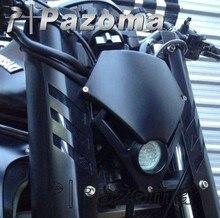 PAZOMA negro faro Mini motocicleta Streetfighter Faro de Enduro LED para GSX ZXR CBR CBF Hornet Fazer