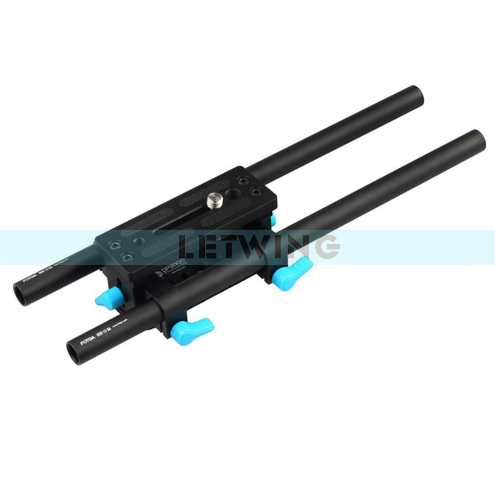 FOTGA DP3000 M2 15mm Rail Rod Support BasePlate For DSLR Follow Focus Rig fotga dp3000 top handle c cage bracket support rig for 15mm dslr rod follow focus