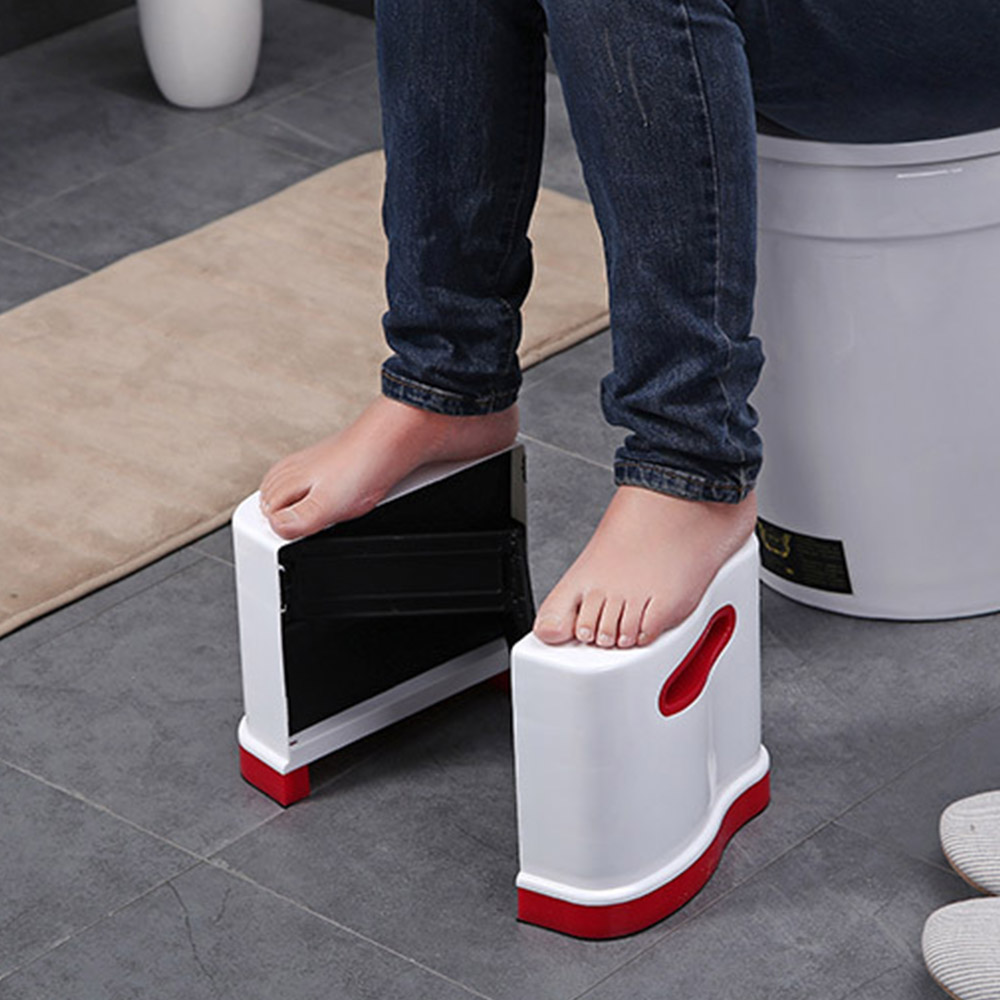 Image 4 - New Qualified Squatty Bathroom Thicken Folding Portable Stools Toilet Stool Step Footstool Piles Relief Aid Safety Folding Stool-in Bathroom Chairs & Stools from Furniture