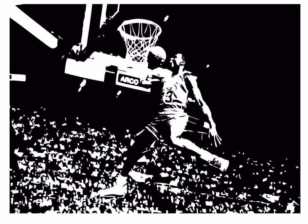 Michael Jordan Chicago Bulls Basketball Dunk Dorm Decor