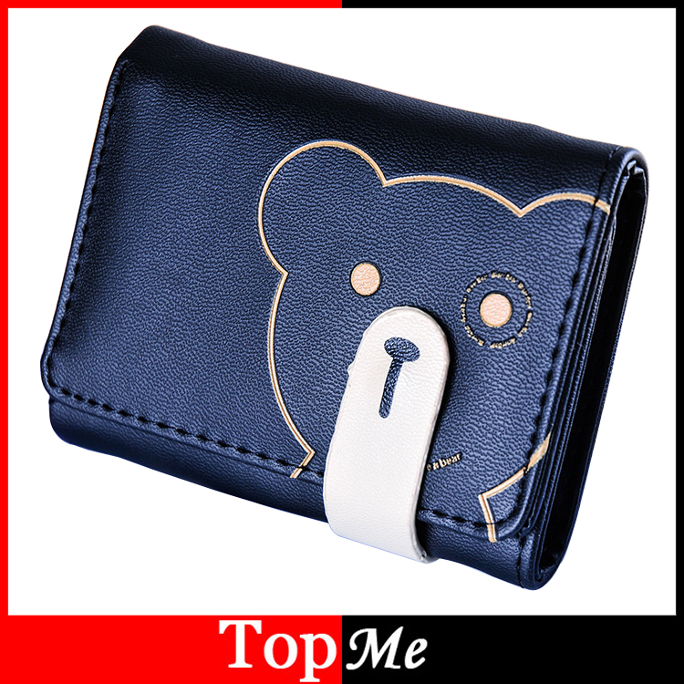 Women Wallets Short Lady Purses Cards ID Holder Hasp Cartoon Bear Coin Purse Brand Woman Wallet Girls Short Money Bags Burse Bag canvas male purses wallet cards id holder mens short wallets hasp zipper money bags change coin purse fold pocket notecase bag
