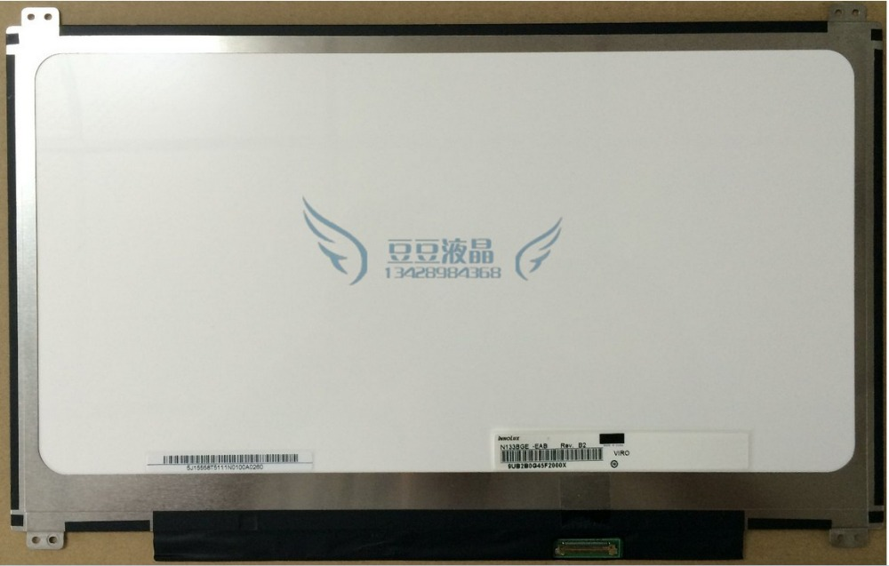 13.3 LED N133BGE-EAB B133XTN01.2 B133XTN01.3 M133NWN1 R3 30pin up+down Screw Holes LCD Laptop LED Display Screen free shipping n133bge l41 rev c3 for asus s300c lcd screen up down screw holes slim laptop led display screen
