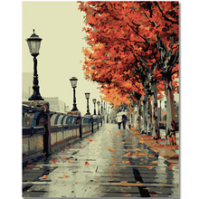 RIHE Fall Landscape Paint by Numbers Kits for Adults DIY, Digital oil painting numbers, Modern Wall Art Picture For Home